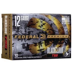 "Federal Black Cloud TSS 12 Gauge Ammunition 3"" #7 and BB 1-1/4 Oz Steel and Tungsten Shot 1450 fps"