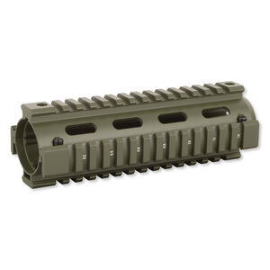 "Firefield AR-15 Drop-In Quad Rail Handguard 6.7"" Carbine Length Aluminum OD Green FF34001OD"