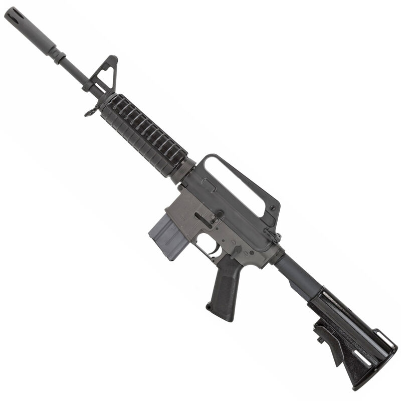 "Colt XM177E2 Commando Retro Carbine Reissue AR-15 Semi Auto Rifle 5.56 NATO 16.1"" Barrel 20 Rounds A1 Fixed Sights/A1 Pistol Grip Synthetic Collapsible Stock Matte Black Finish"