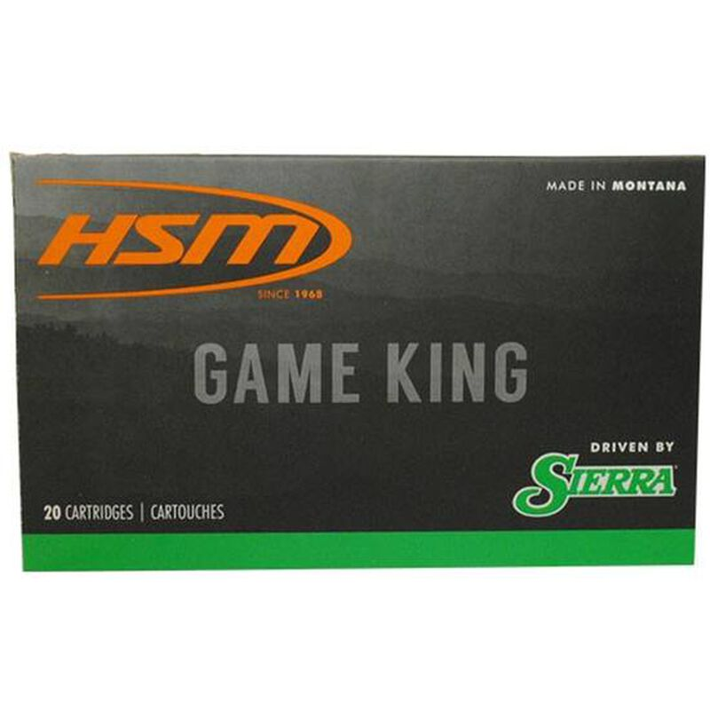 HSM .308 Winchester Ammunition 20 Rounds Sierra Gameking SBT 150 Grains HSM-308-41-N