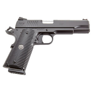 "Wilson Combat ACP Full Size .45 ACP Semi Auto Pistol 5"" Barrel 8 Rounds G10 Eagle Claw Grip Carbon Steel Armor-Tuff Black Finish"
