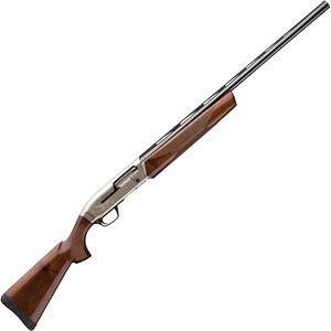 "Browning Maxus Hunter 12 Gauge Semi Auto Shotgun 28"" Barrel 3"" Chamber 4 Rounds Brass Bead Front Sight Walnut Stock Two Tone Nickel/Blued Finish"