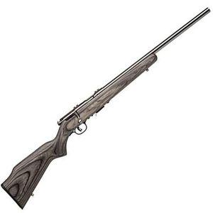 "Savage Model 93R17-BVSS .17 HMR Bolt-Action Rifle 21"" Barrel 5 Rounds Gray Laminated Hardwood Stock Stainless Steel Barrel 96705"