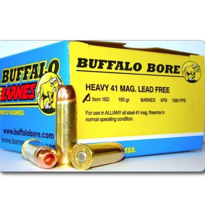 Buffalo Bore Heavy .41 Remington Magnum Ammunition 20 Rounds Barnes XPB 180 Grain 16D/20