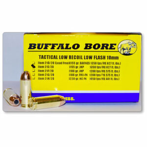 Buffalo Bore Tactical 10mm Auto Ammunition 20 Rounds JHP 155 Grain 21E/20
