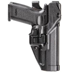 BLACKHAWK! SERPA S&W M&P .45ACP, 9mm Luger, .40 S&W Pro Level 3 Autolock Duty Holster Right Hand Polymer Black 44H145BK-R