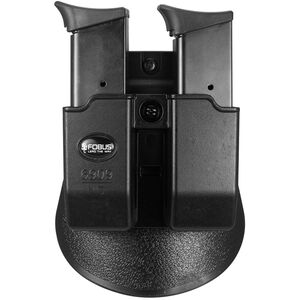 Fobus Paddle Double Magazine Pouch 9mm/.40 Double Stack Magazines Ambidextrous Polymer Black 6909NDP