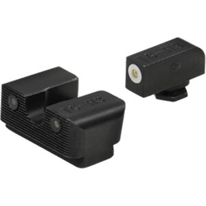 TRUGLO Tritium Pro Night Sights GLOCK 17/22/33 Green Sight Set with White Focus Ring Steel Black