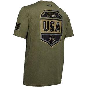 Under Armour Freedom USA Emblem T-Shirt Medium OD Green