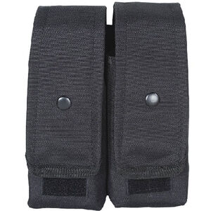 Voodoo Tactical AK47/AK74/M4/AR-15 Double Magazine Pouch Hook/Loop Flap Adjustable Snap Closure MOLLE Webbing Compatible Nylon Black