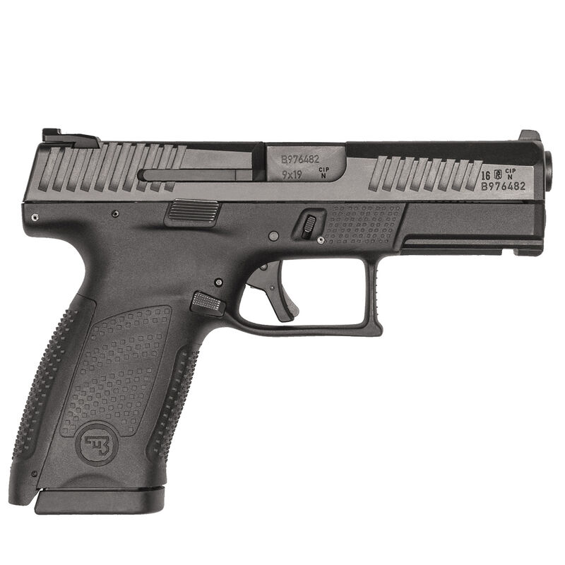 "CZ P-10 C Compact 9mm Luger Semi Auto Pistol 4.02"" Barrel 15 Rounds Three Dot Sights Black"
