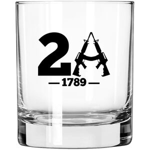 2 Monkey Trading Lucky Shot USA 2A 1789 Label Whiskey Glass