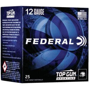 """Federal Top Gun Sporting 12 Gauge Ammunition 250 Rounds 2-3/4"""" #8 Shot 1 oz 1250 fps"""