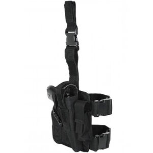 Voodoo Tactical Tactical Drop Leg Holster, Right Hand, Magazine Pouch
