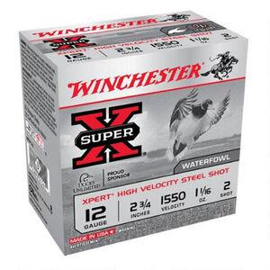 "Winchester 12 Gauge Ammunition 25 Rounds 2.75"" #2 Steel Shot 1.0625oz."