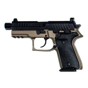 "AREX Rex Zero 1TC Compact Tactical 9mm Luger Semi Auto Pistol 4.9"" Barrel Length 17 Rounds Fixed Sights Picatinny Rail Ambidextrous Safety/Magazine Release FDE"
