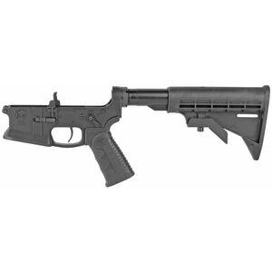 KE Arms KE-15 AR-15 Complete Lower Receiver 5.56 NATO Pistol Grip/Stock Flared Magwell Billet 7075-T6 Aluminum Hard Coat Anodized Matte Black Finish