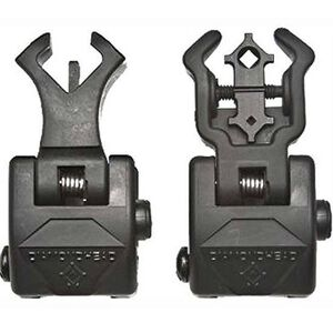 Diamondhead AR-15 Flip Up NiteBrite Sight Set Same Plane Polymer Black 1499