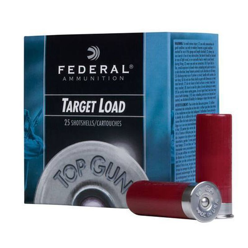 """Federal Top Gun 12 Gauge Ammunition 25 Rounds 2.75"""" #7.5 Lead 1.125 Ounce TG1275"""