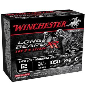 "Winchester Long Beard XR 12 Ga 3.5"" #6 Lead 10 Rounds"