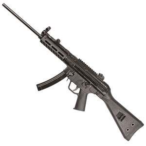 "PTR Industries 9R PTR 608 9mm Luger Semi Auto Rifle 16.2"" Barrel 30 Round Magazine M-LOK Aluminum Hand Guard Fixed Stock Matte Black"