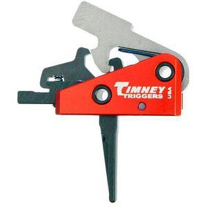 "Timney Trigger AR Targa 2 Stage Short Trigger AR-15 Rifles Small Pin .154"" Diameter Straight Trigger Shoe 2LB Plus 2LB Aluminum Red 662S-ST"