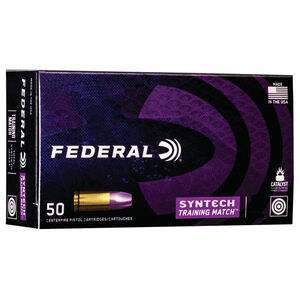 Federal Syntech Training Match 40 S&W Ammunition 50 Rounds 180 Grain TSJFN 1010fps