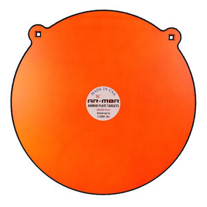 """AR-Mor Armor Plate Targets 16"""" AR500 Gong Steel Shooting Target 1/2"""" Thick Pre-Painted/Ready to Use Orange Finish"""