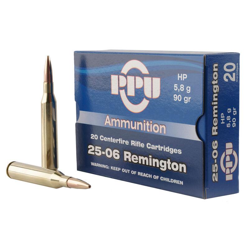 Prvi Partizan PPU .25-06 Remington Ammunition 20 Rounds 90 Grain Jacketed Hollow Point 3398fps