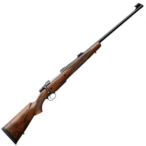 """CZ 550 American Safari Magnum Bolt Action Rifle .375 H&H Magnum 25"""" Barrel 5 Rounds Express Sights American Style Shaped Turkish Walnut Stock Blued Finish"""
