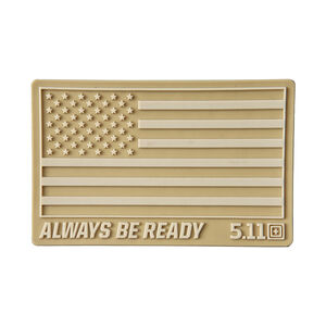 5.11 Tactical USA Flag Patch Velcro Sand 81024