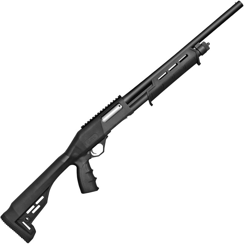 "JTS X12PT 12 Gauge Pump Action Shotgun 18.5"" Barrel 2-3/4"" Chamber 4 Rounds Picatinny Optics Rail Synthetic Pistol Grip Stock Black"