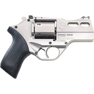 "Chiappa Rhino 30DS .357 Mag DA/SA Revolver 3"" Barrel 6 Rounds Alloy Frame FO Sights Black Rubber Grips Nickel Finish"