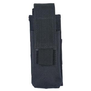 Voodoo Tactical Single Pistol Magazine Pouch Velcro Closure MOLLE Compatible Nylon Matte Black