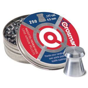 Crosman .177 Wadcutter Pellets Lead 7.4 Grain 250 Count Tin 6177