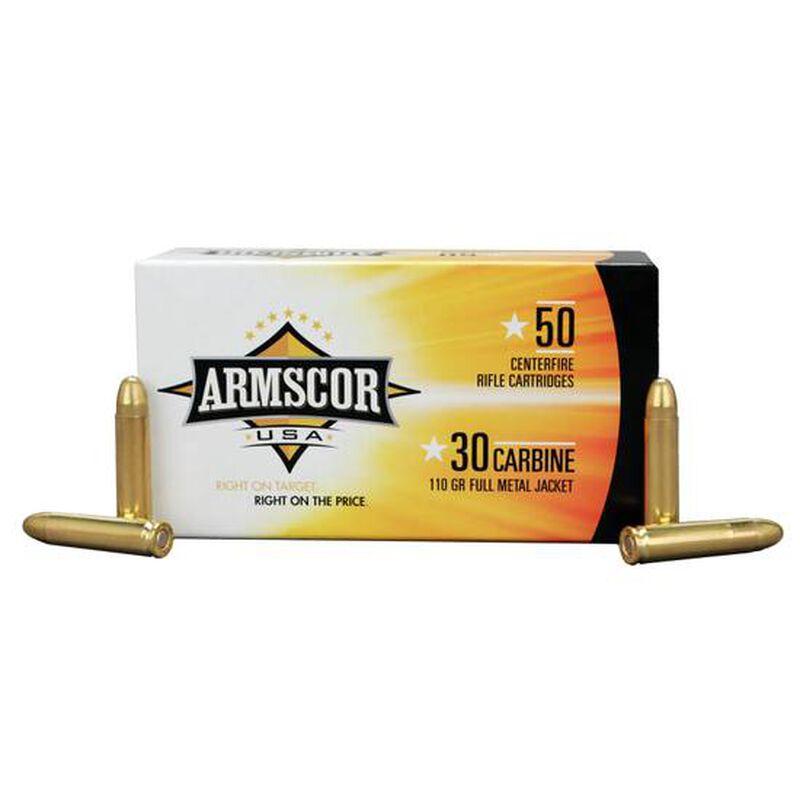 Armscor USA .30 Carbine Ammunition 50 Rounds FMJ 110 Grains F AC 30C-1N