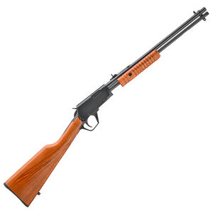 """Rossi Gallery .22 Long Rifle Pump Action Rifle 18"""" Barrel 15 Rounds Buckhorn Sights Beechwood Stock Polished Black Finish"""