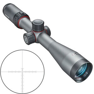 Bushnell Nitro 3-12x44mm Riflescope Non-Illuminated Deploy MOA Reticle 30mm Tube 0.25 MOA Adjustments Second Focal Plane Side Focus Parallax Gunmetal Gray