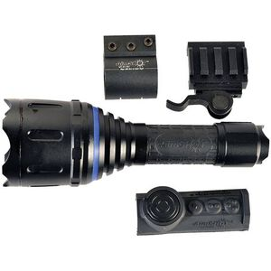 AimSHOT White LED Weapon Light 400 Lumens Adjustable Beam 2x CR123 Wireless Pressure Switch Aluminum Black TZ980-WH