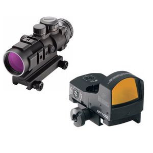 Burris AR-332 3x32mm Prism Sight Ballistic CQ Reticle With FastFire III Reflex Red Dot Sight 3 MOA/Picatinny Rail Mount Matte Black