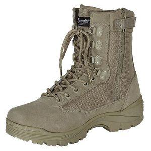 "Voodoo Tactical 9"" Tactical Boots Nylon/Leather Size 10.5 Regular Khaki Tan 04-837883105"