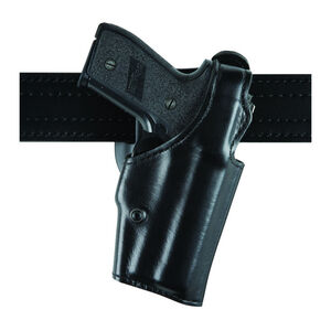 "Safariland Model 200 ""Top Gun"" Level I Retention Mid-Ride Holster S&W 439/639/5903 and Similar 2.25"" Belt Loop Right Hand Hi Gloss Black"