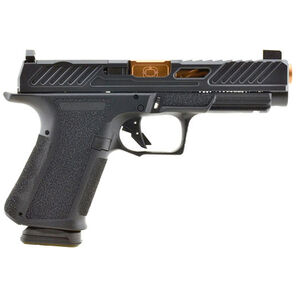 "Shadow Systems MR920L Elite 9mm Luger Semi Automatic Pistol 4.5"" Barrel 15 Rounds Tritium Night Sights Optic Cut Polymer Frame Bronze/Black Finish"