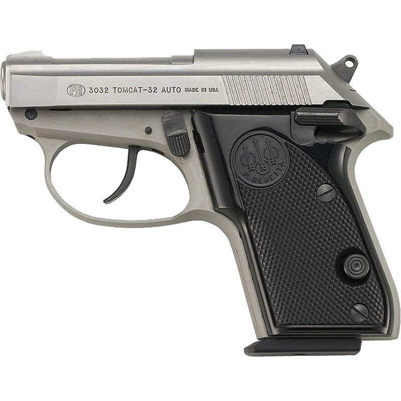 "Beretta Model 3032 Tomcat Inox Semi Automatic Handgun .32 ACP 2.4"" Barrel 7 Rounds Stainless Steel Finish"
