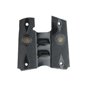 Pachmayr Signature Grips 1911 Full Size Double Diamond Checkered Rubber Black 05008
