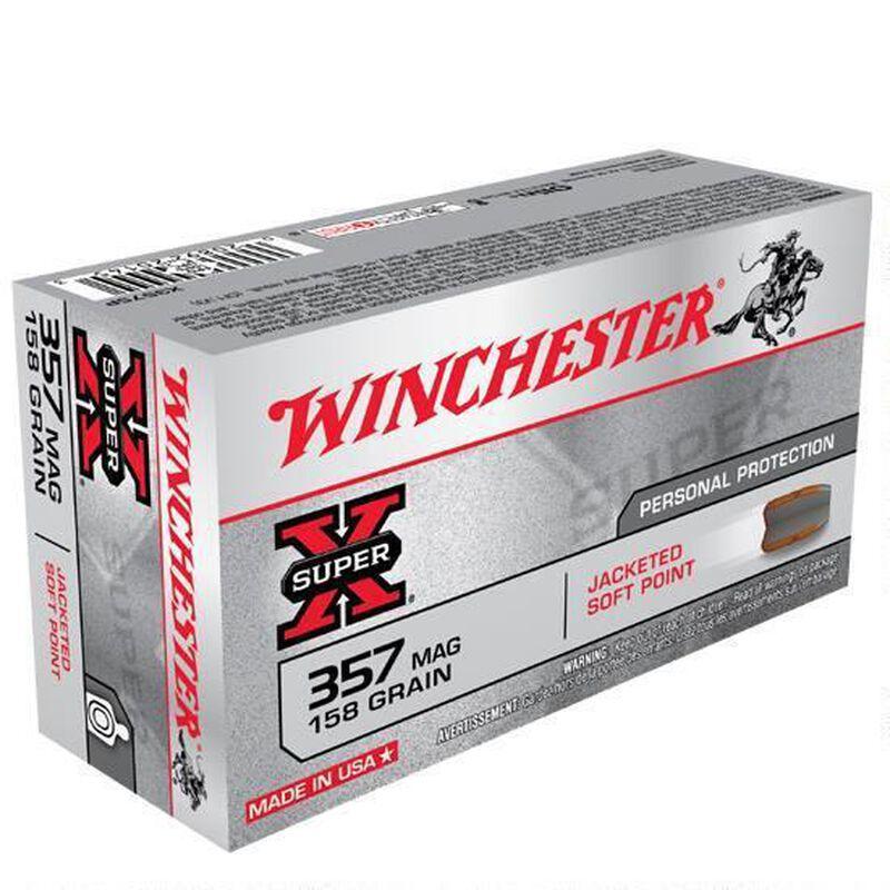 Winchester Super X .357 Magnum Ammunition 500 Rounds, JSP, 158 Grain
