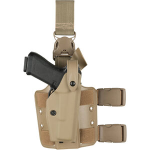 Safariland 6005 SLS Tactical Holster with Quick Release Leg Harness Fits Browning Hi-Power Left Hand STX Tactical Finish FDE Brown