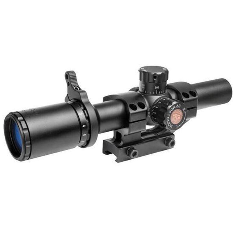 Truglo TRU-Brite 30 Series Tactical Rifle Scope 1-4x24 Fully Coated Lens 30mm Tube Matte Finish Black