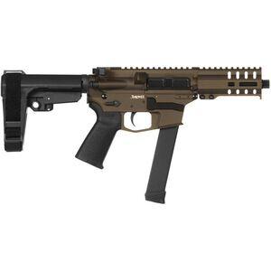 "CMMG Banshee 300 MkGs 9mm Luger AR-15 Semi Auto Pistol 5"" Barrel 33 Rounds Uses GLOCK Style Magazines RML4 M-LOK Handguard CMMG Micro/CQB RipBrace Midnight Bronze Finish"