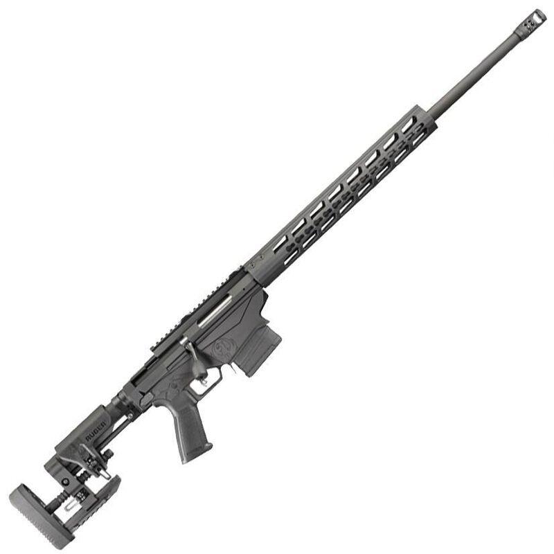 "Ruger Precision Rifle Bolt Action Rifle 6.5 Creedmoor 24"" Barrel 10 Rounds Ruger Chassis/Muzzle Brake/Adjustable Stock Matte Black Finish"